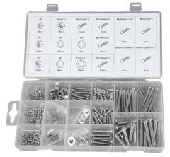 DURATOOL D01885  Nut And Bolt Set S/Steel 224Pc